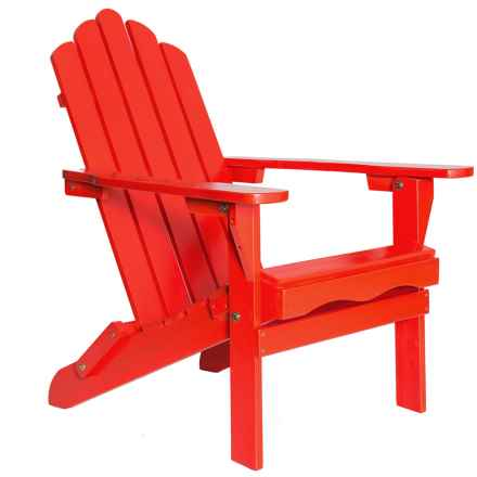 Aspen Brands Folding Wood Adirondack Chair in Red - Closeouts