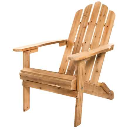 Aspen Brands Folding Wood Adirondack Chair in Tan - Closeouts