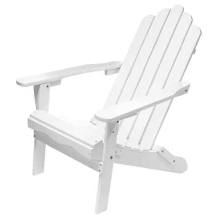 Aspen Brands Folding Wood Adirondack Chair in White - Closeouts
