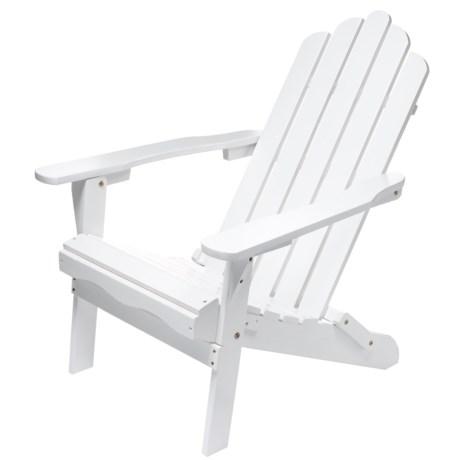 Aspen Brands Folding Wood Adirondack Chair in White