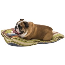 "Aspen Pet Deluxe Quilted Dog Bed - 27x36"" in Patchwork - Closeouts"