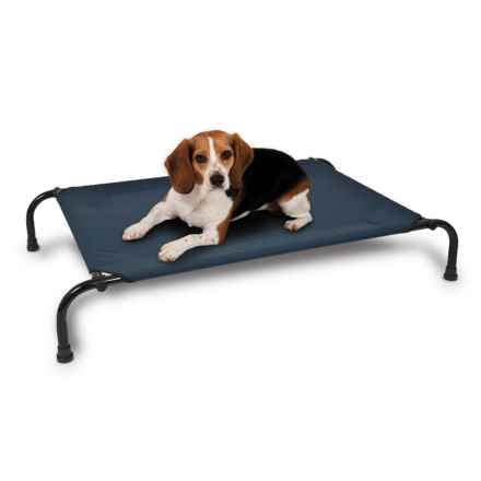 "Aspen Pet Elevated Dog Bed - Medium, 35x25"" in Navy - Closeouts"