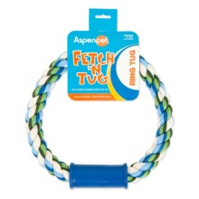 Aspen Pet Fetch 'n Tug Rope Ring Dog Toy in Asst - Closeouts