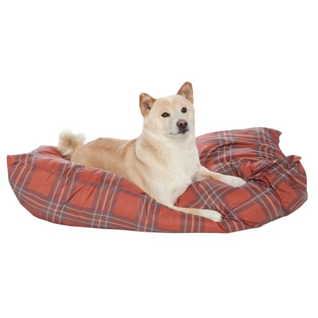 """Aspen Pet Knife Edge Pillow Dog Bed - 30x40"""" in Red Plaid"""