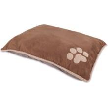 "Aspen Pet Shearling Knife-Edge Pillow Dog Bed - 27x36"" in Dark Tan - Closeouts"