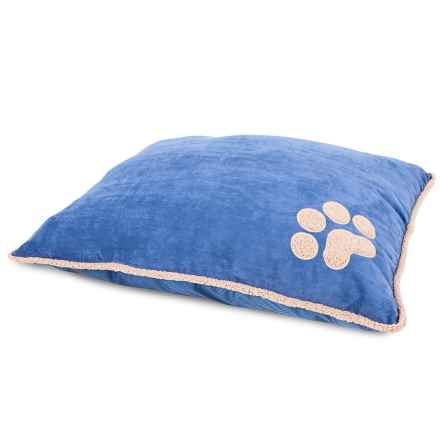 "Aspen Pet Shearling Knife-Edge Pillow Dog Bed - 27x36"" in Denim Blue - Closeouts"