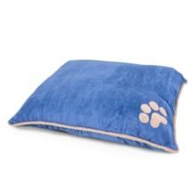 "Aspen Pet Shearling Knife-Edge Pillow Dog Bed - 36x45"" in Denim Blue - Closeouts"