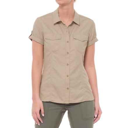 Aspen Quandary Shirt - Short Sleeve (For Women) in True Khaki - Closeouts
