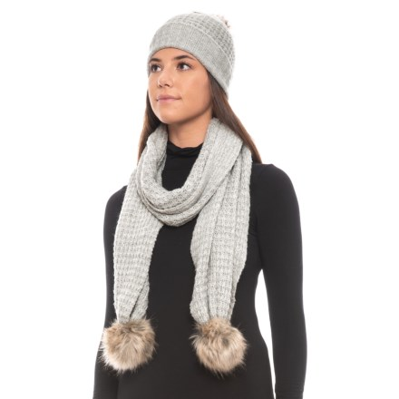 3e49b07e2df Aspen Recovery Faux-Fur Hat and Scarf Set (For Women) in Light Heather