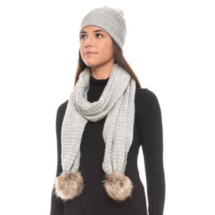 Aspen Recovery Faux-Fur Hat and Scarf Set (For Women) in Light Heather Grey - Closeouts