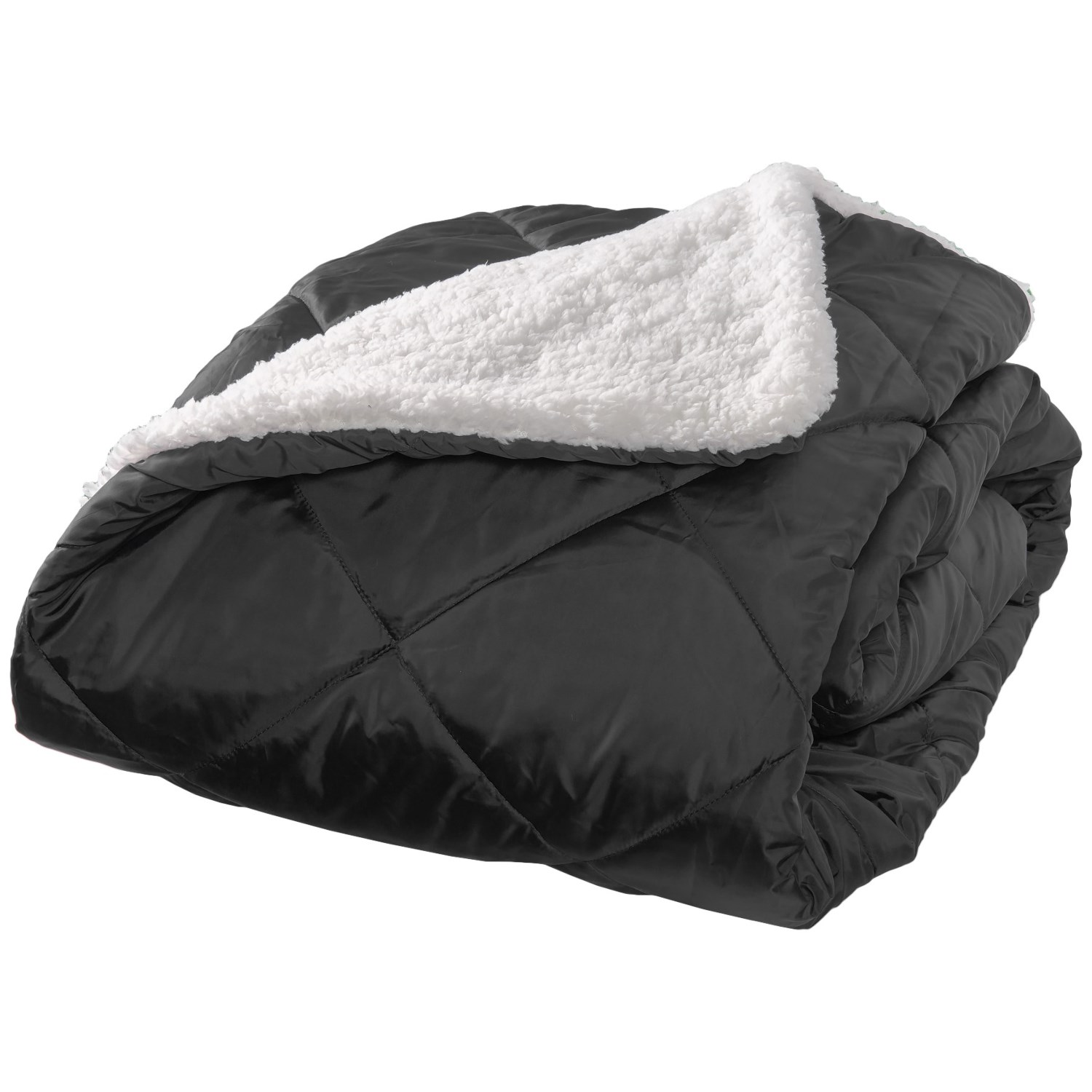 "Aspen Rolled Packable Sherpa Throw Blanket - 50x70"" in Black ... d31068f14"