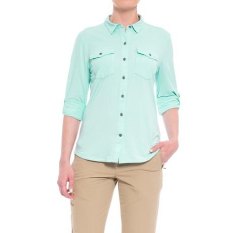 Aspen Trekker Insect-Repellent Shirt - Long Sleeve (For Women) in Aqua Mist