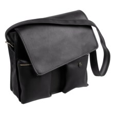 Aston Large Messenger Bag in Black - Closeouts