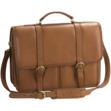 Aston Leather Briefcase - Two Compartment in Tan - Closeouts