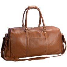 Aston Leather Carry-On Duffel Bag - Cowhide in Tan Pebble Grain - Closeouts