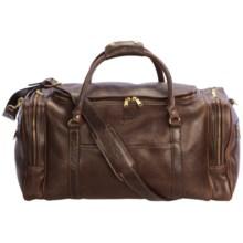 Aston Leather Duffel Bag in Brown - Closeouts