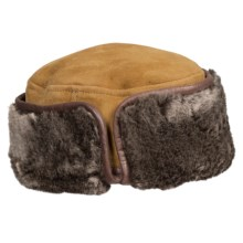 Aston Leather Greenland Sheepskin Shearling Hat (For Men) in Suede Gold - Closeouts