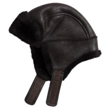 Aston Leather Luxe Himalayan Sheepskin Hat (For Men) in Rugged Santa Fe - Closeouts