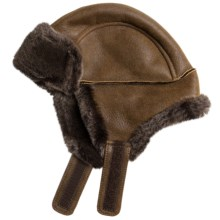 Aston Leather Luxe Himalayan Sheepskin Hat (For Men) in Rugged Whiskey - Closeouts
