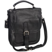 Aston Leather Medium Shoulder Bag in Black - Closeouts