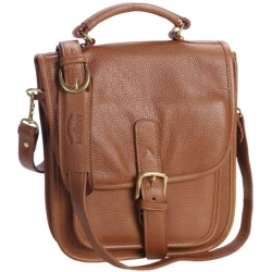 Aston Leather Medium Shoulder Bag in Tan