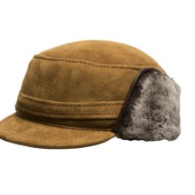 Aston Leather Merino Sheepskin Hat (For Men) in Gold Suede - Closeouts