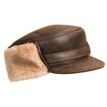 Aston Leather Merino Sheepskin Hat (For Men) in Rugged Castano - Closeouts