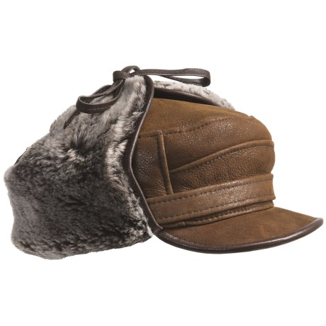 Aston Luxe Shearling Hat (For Men) in Rugged Whiskey