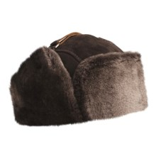 Aston Umiat Alaska Sheepskin Hat (For Men) in Brown - Closeouts