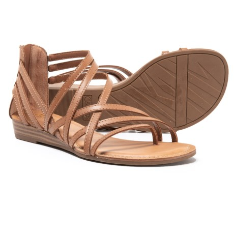 Image of Asymmetrical Strappy Sandals (For Women)
