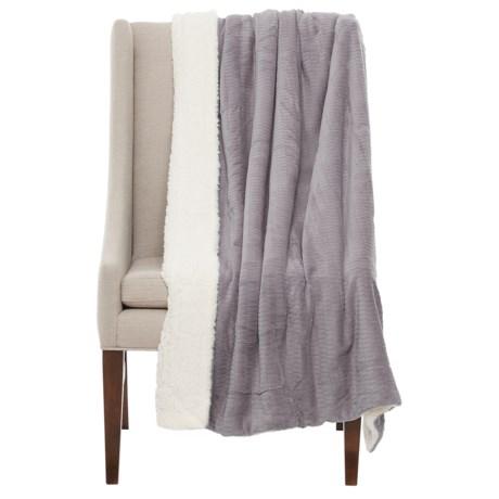 "Atelier Fresco Jacquard Berber Throw Blanket - 50x60"" in Grey"