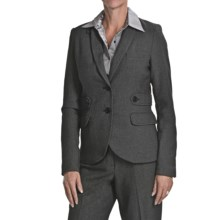 Atelier Luxe Birdseye Jacket - Elbow Patches (For Women) in Black - Overstock