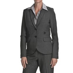 Atelier Luxe Birdseye Jacket - Elbow Patches (For Women) in Black
