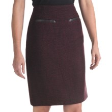 Atelier Luxe Boucle Skirt (For Women) in Black/Burgandy - Closeouts