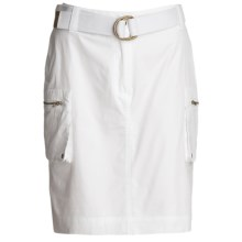 Atelier Luxe Casual Cotton Skirt -Pocketed (For Women) in White - Closeouts