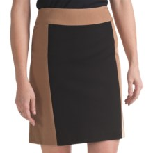 Atelier Luxe Color-Block Pencil Skirt - Ponte Knit (For Women) in Black/Camel - Closeouts