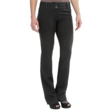 Atelier Luxe Contemporary Fit Dress Pants - Straight Leg (For Women) in Black - Overstock