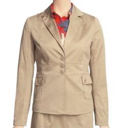 Atelier Luxe Cotton Sateen Jacket (For Women) in Khaki