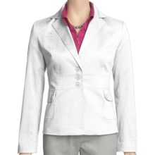 Atelier Luxe Cotton Sateen Jacket (For Women) in White - Closeouts