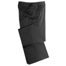 Atelier Luxe Cotton Sateen Pants (For Women) in Black - Closeouts