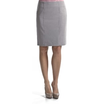 Atelier Luxe Cross-Dye Slim Skirt (For Women) in Light Grey Heather