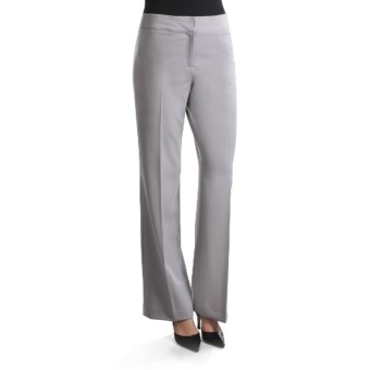 Atelier Luxe Debbie Twill Pants - Bootcut Leg (For Women) in Grey