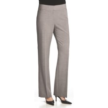 Atelier Luxe Jessica Cross-Dye Pants - Straight Leg (For Women) in Light Grey Heather - Closeouts