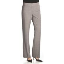 Atelier Luxe Jessica Cross-Dye Pants - Straight Leg (For Women) in Light Grey Heather - Closeouts
