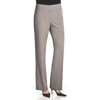 Atelier Luxe Jessica Cross-Dye Pants - Straight Leg (For Women) in Light Grey Heather