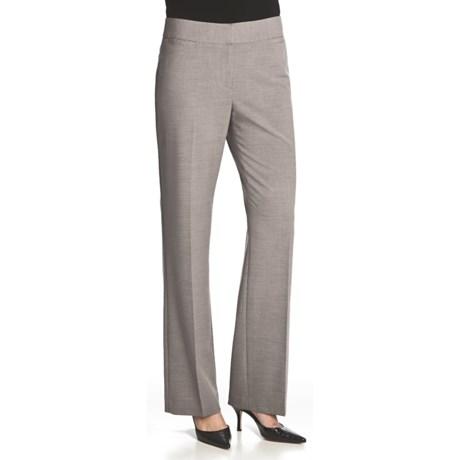 Atelier Luxe Jessica Cross-Dye Pants - Straight Leg (For Women) in Light Grey Heather
