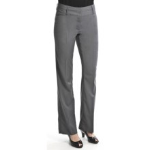 Atelier Luxe Micro-Stripe Reg Leg Pants (For Women) in Grey/White - Closeouts