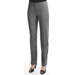 Atelier Luxe Microstripe Pants - Slim Leg (For Women) in Grey/White