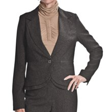 Atelier Luxe Mini-Boucle Peplum Jacket (For Women) in Black - Overstock
