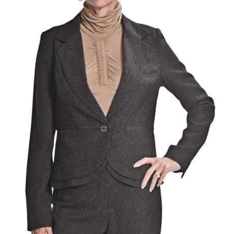 Atelier Luxe Mini-Boucle Peplum Jacket (For Women) in Black